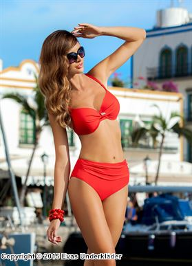 Elegant bikini med hög trosa
